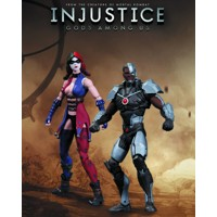 INJUSTICE CYBORG VS HARLEY QUINN 2 PACK
