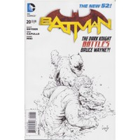 BATMAN #20 GREG CAPULLO BLACK & WHITE VARIANT COVER