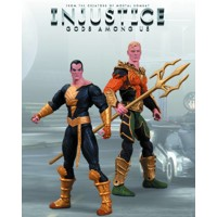 INJUSTICE AQUAMAN VS BLACK ADAM 2 PACK AF