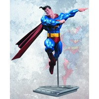 ALL NEW METALLIC SUPERMAN BY FRANK MILLER STATUE
