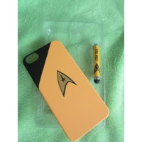 STAR TREK IPHONE 5 COMMAND YELLOW CASE STYLUS