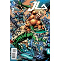 JUSTICE LEAGUE OF AMERICA #1 AQUAMAN VAR ED - Bryan Hitch