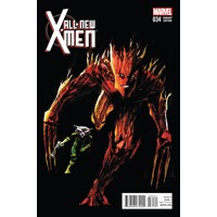 ALL NEW X-MEN #34 ROCKET RACCOON AND GROOT JOCK VAR - Brian Michael Bendis