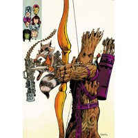 AVENGERS WORLD #15 ROCKET RACCOON AND GROOT VAR - Nick Spencer, Frank Barbiere