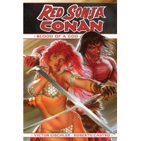 RED SONJA CONAN BLOOD OF A GOD HC - Victor Gischler