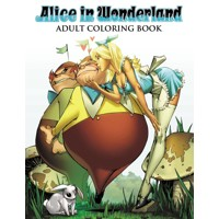 ALICE IN WONDERLAND ADULT COLORING BOOK - Scott Campbell & Various