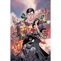 JUSTICE LEAGUE REBIRTH DLX COLL HC BOOK 01 - Bryan Hitch