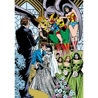 JLA THE WEDDING OF THE ATOM & JEAN LORING HC - Gerry Conway, Steve Englehart